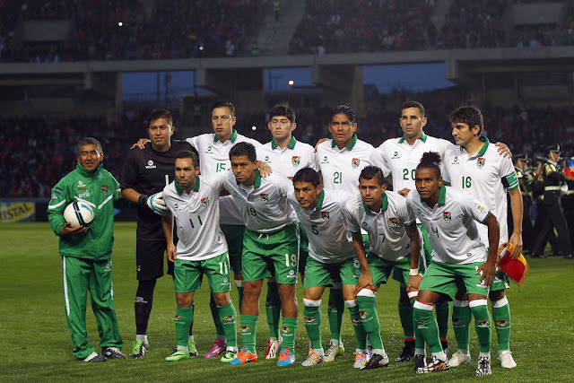 Formación de Bolivia ante Chile, amistoso disputado el 14 de octubre de 2014