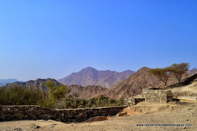 Hajar Mountains in Fujairah