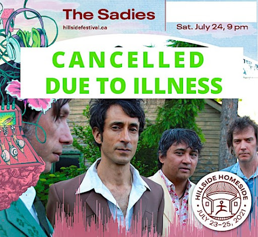 The Sadies' appearance @ Hillside is cancelled