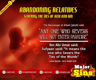 MAJOR SIN. 9.2. ABANDONING RELATIVES : SEVERING THE TIES OF KITH AND KIN | Kabira Gunah