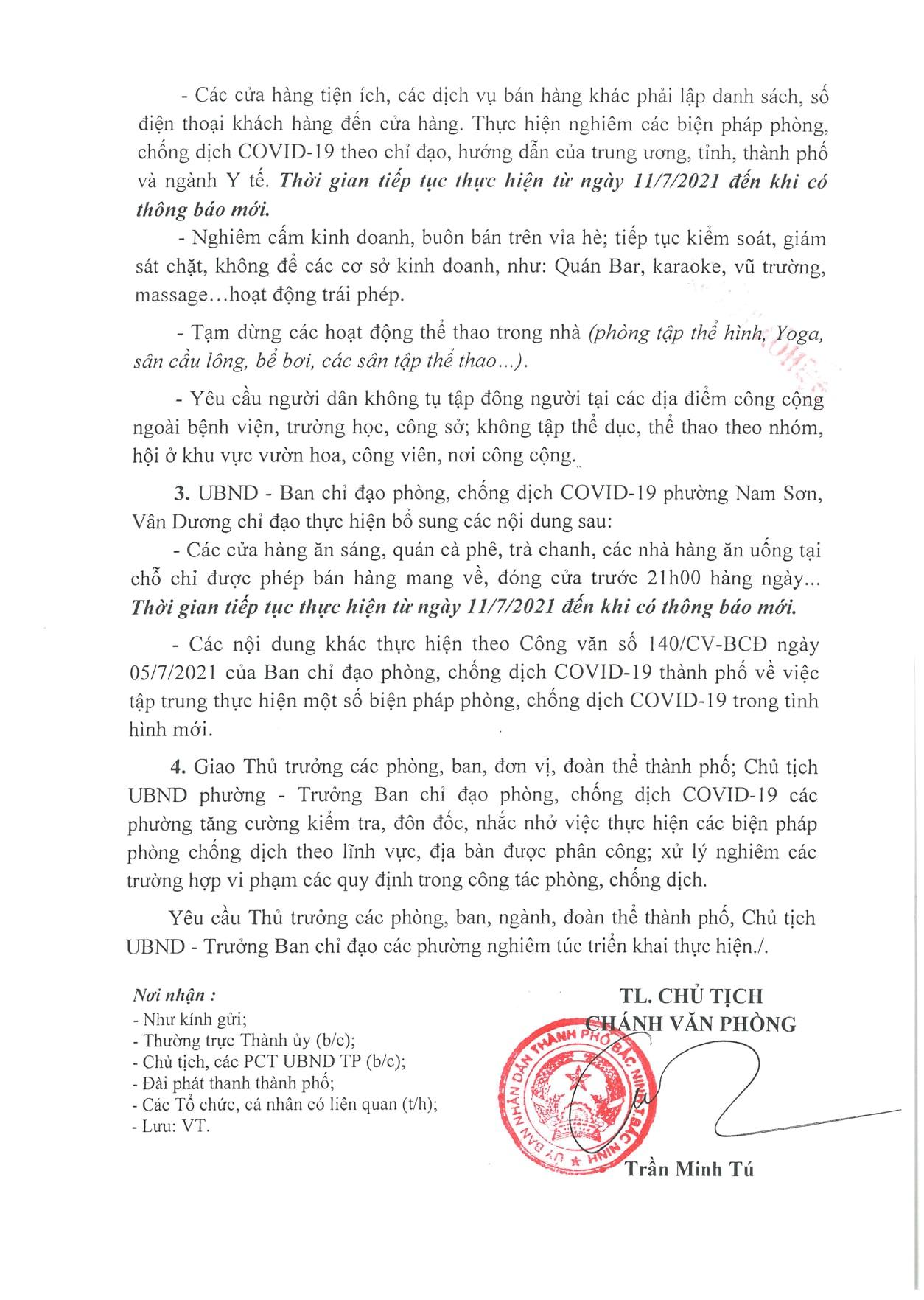 THÀNH PHỐ BẮC NINH THỰC HIỆN MỘT SỐ BIỆN PHÁP PHÒNG, CHỐNG DỊCH COVID-19 TRONG TÌNH HÌNH MỚI