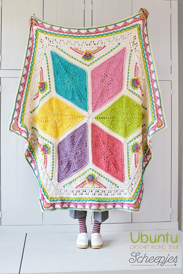 Ubuntu CAL (crochet-a-long). #Free crochet pattern by Dedri Uys, and Scheepjes