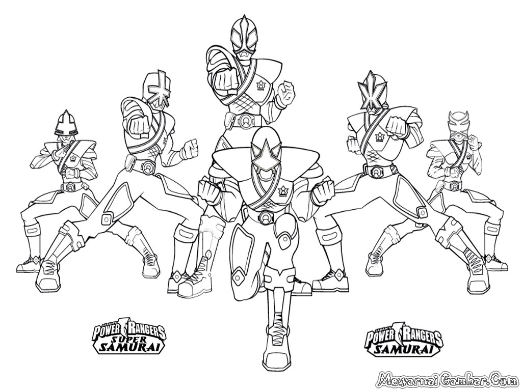 Gambar Mewarnai Power Ranger
