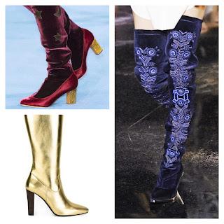 botas doradas, ultimas tendencias en botas altas