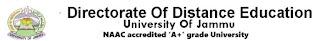 BED DISTANCE  MODE JAmmu university