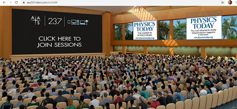 Hooray; At least we are attending the AAS 237 meeting online (Source: www.aas.org)