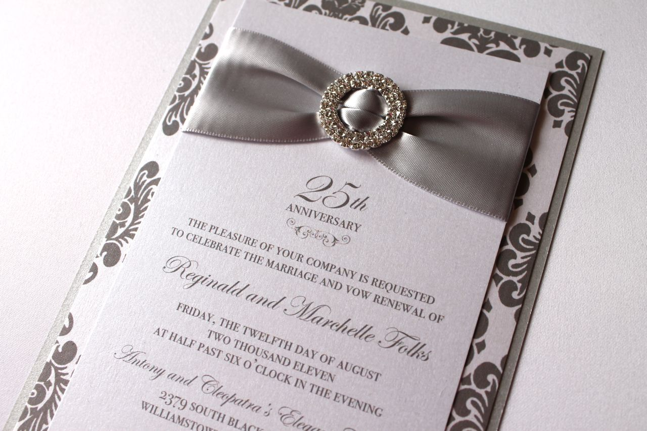 25th Wedding Invitations