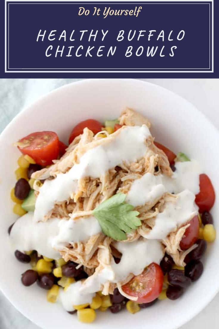 Healthy bowl recipes are my go to lately and these healthy buffalo chicken bowls cannot be beat! Even my kids love them, and they are totally guilt free!