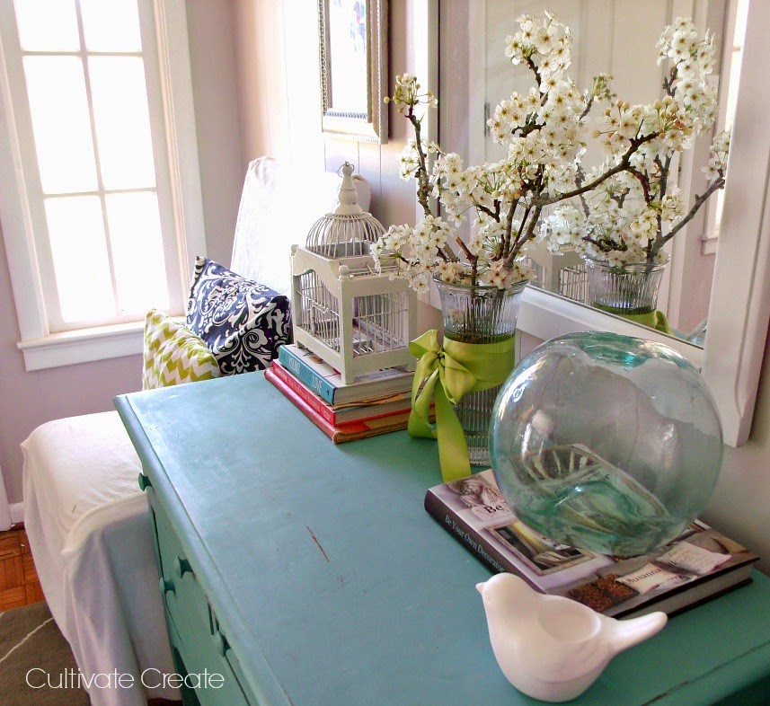 Frugal Home Decorating: Cultivate Create: Frugal Spring Decor: Shop Your Home