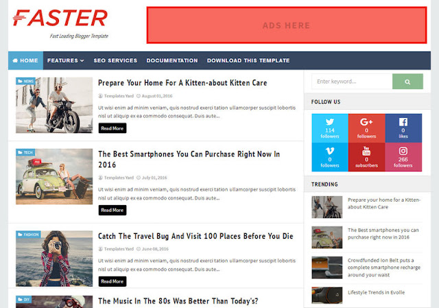 Faster-Fast-Loading-Blogger-Template Speedy Blogger Template