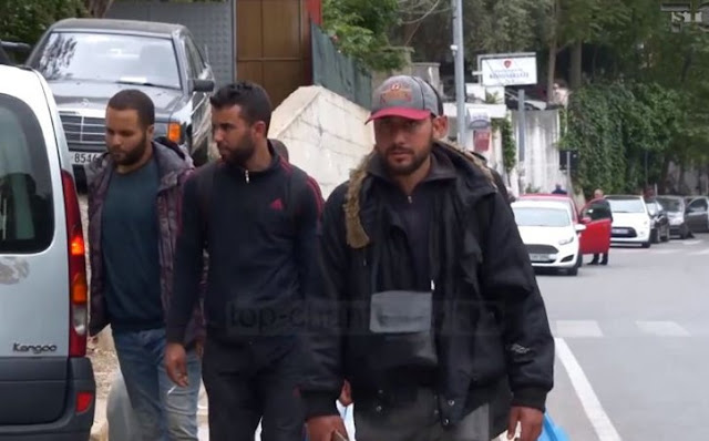 Why Albania is the preferred country in the Balkans for Arabs trafficking?