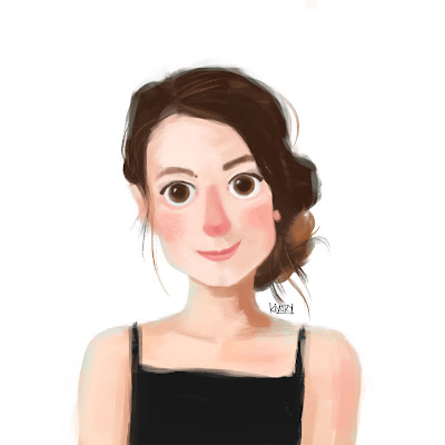 Cartoon of Valentina Maile Prada Digital Illustration