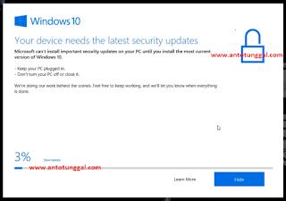 cara mematikan dan menghilangkan windows 10 update assistant permanen pada laptop dan komputer dengan sistem operasi berbasis windows 10