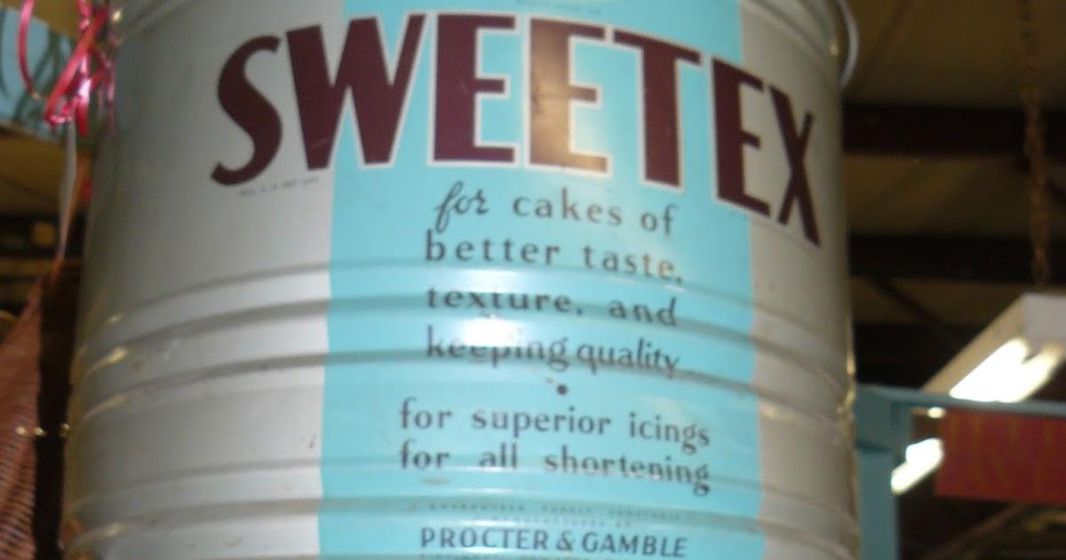 SCRANBERRY COOP : Antique metal - Sweetex Shortening, huge ...
