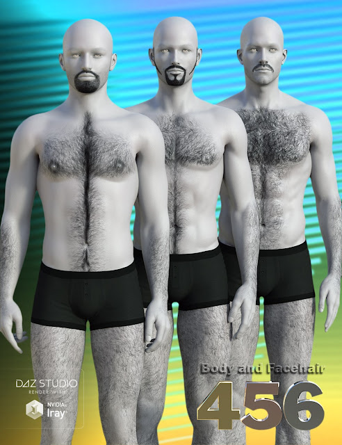 Project Hairy 456 for Daz Studio