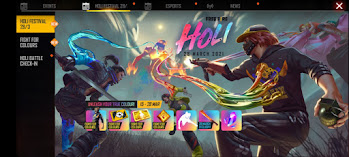Free Fire Holi Event How to Collect Legendary Gun Skins  Everyday For Free