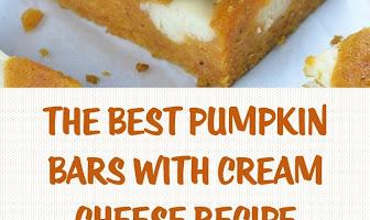 The Best Pumpkin Bars with Cream Cheese Recipe