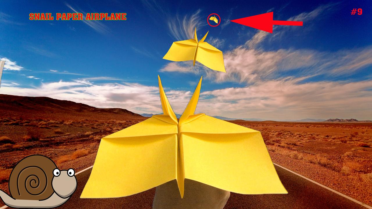 Cách gấp xếp máy bay giấy hình con ốc sên - How to make an snail paper airplane flies far
