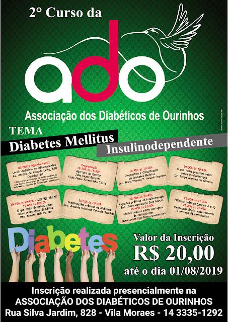 A Associação dos Diabéticos de Ourinhos (ADO) realiza 2º Curso de Diabetes mellitus insulinodependente