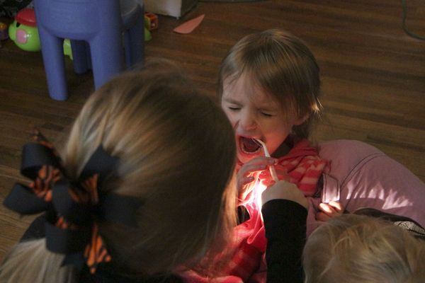 Hands-on learning about dentists