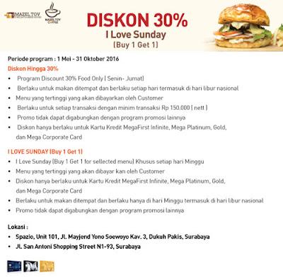 Promo Mazel Tov Diskon 30% - Bank Mega