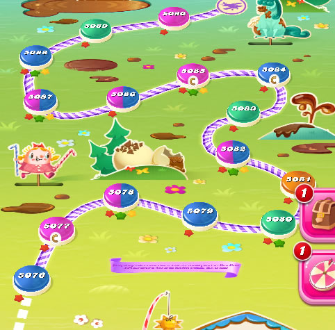 Candy Crush Saga level 5076-5090