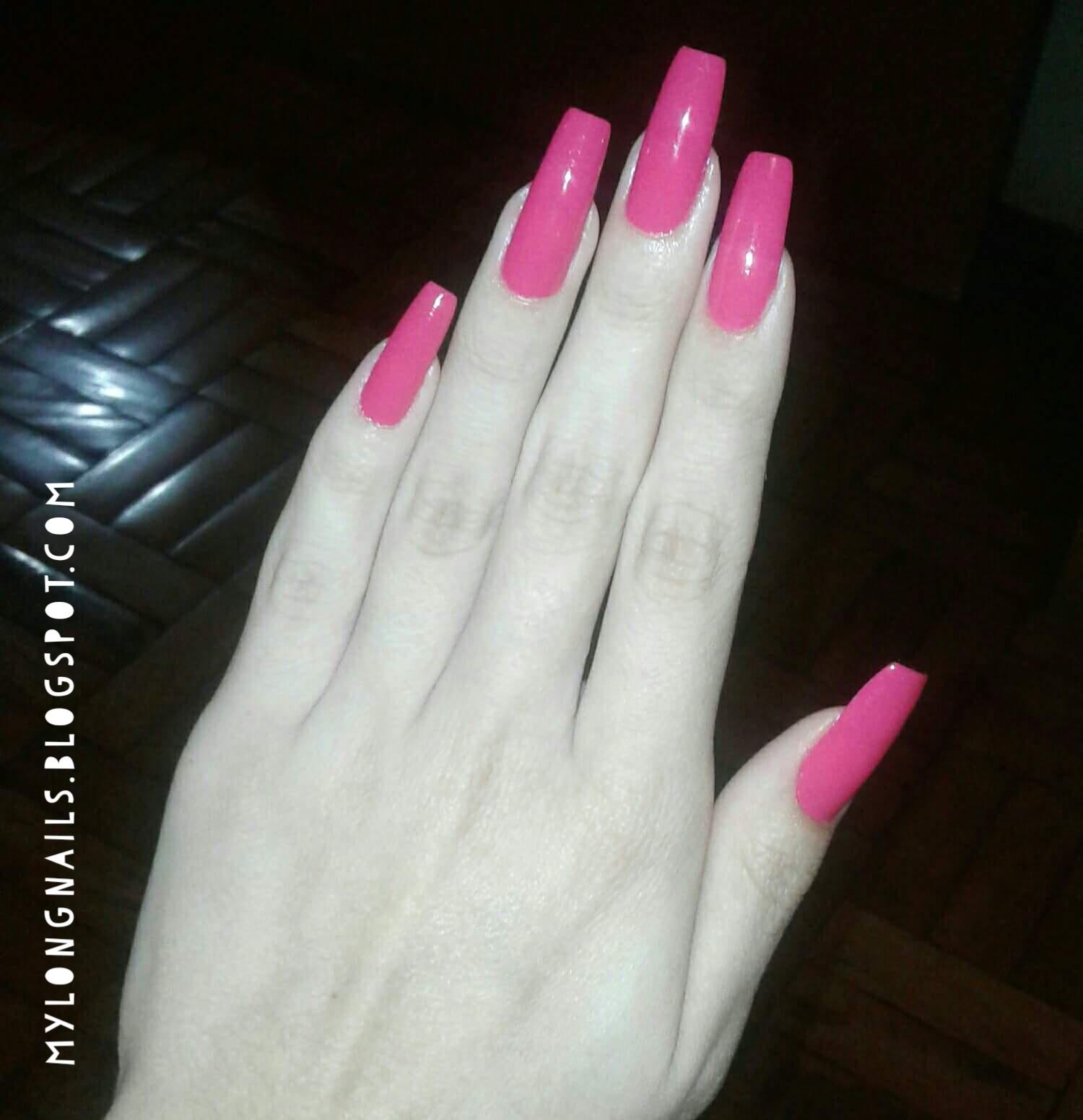 Long Nails: Julia\'s beautiful natural long nails - 2