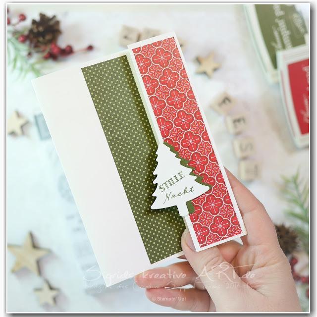 Weihnachtliche Gruesse mit Stampin' Up! Produkten
