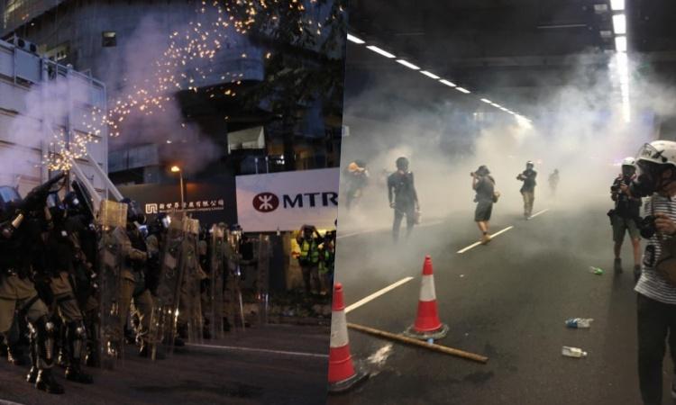 RUU Ekstradisi : Terjadi Bentrokan di Tai Wai , Polisi tembakkan Gas Air Mata ke Pengunjuk Rasa