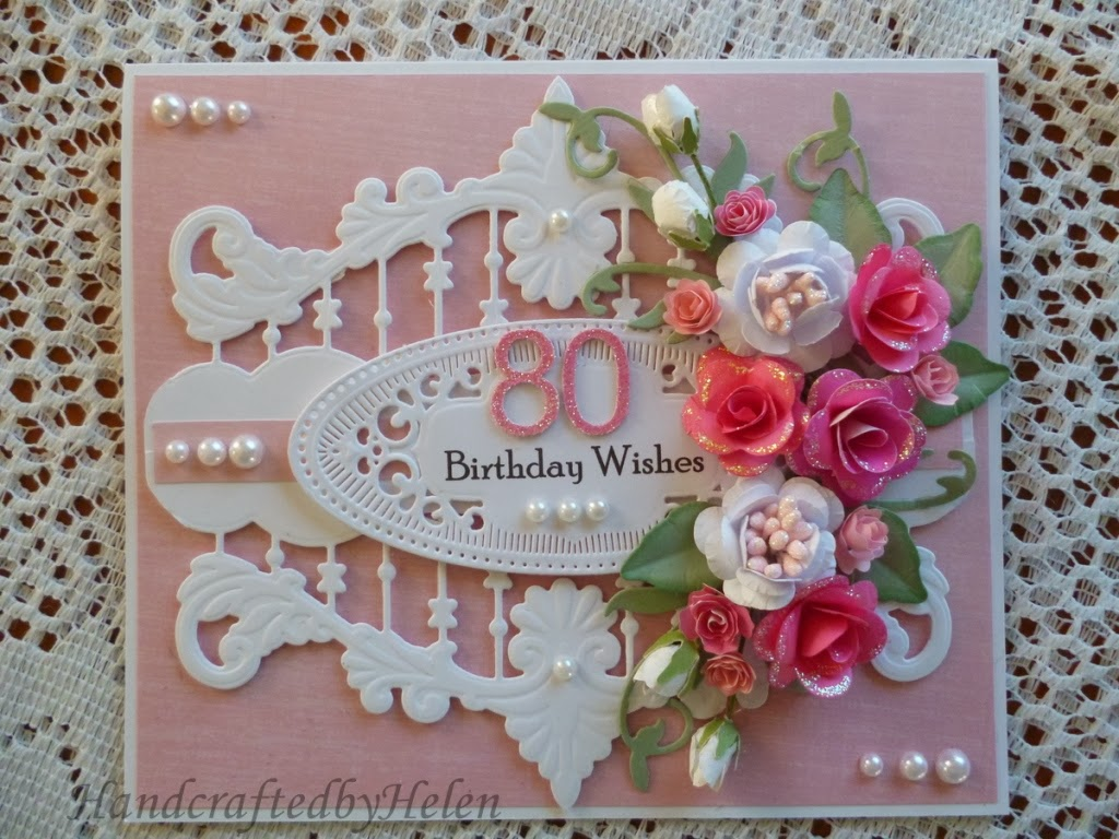 80 Geburtstag Karte Handcrafted By Helen 80 Birthday Card