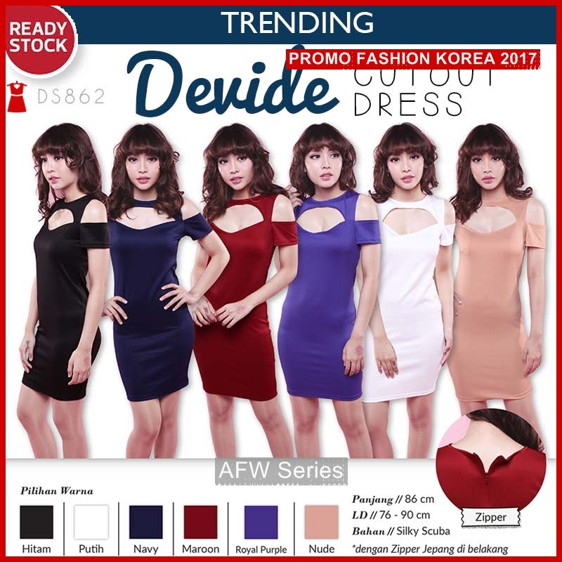 BAMFGW146 Devide Dress Gaun Wanita PROMO BMG