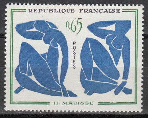 "France 1961 Modern Art - ""Blue Nudes"" by Henri Matisse"