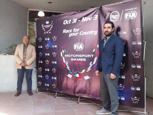 OMDAI FiA México en los Motorsports Games  a realizarse del 31 de Octubre al 3 de Noviembre en Italia