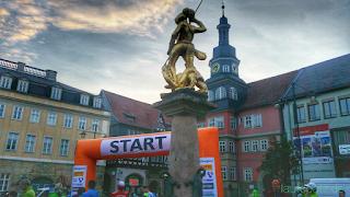 Eisenach Marktplatz Start Rennsteiglauf Supermarathon
