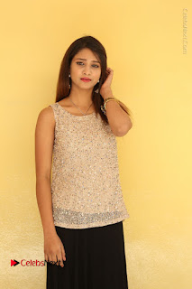 Tollywood Upcoming Actress Arthi Stills in Black Skirt at Plus 1 Movie Trailer Launch  0055.JPG