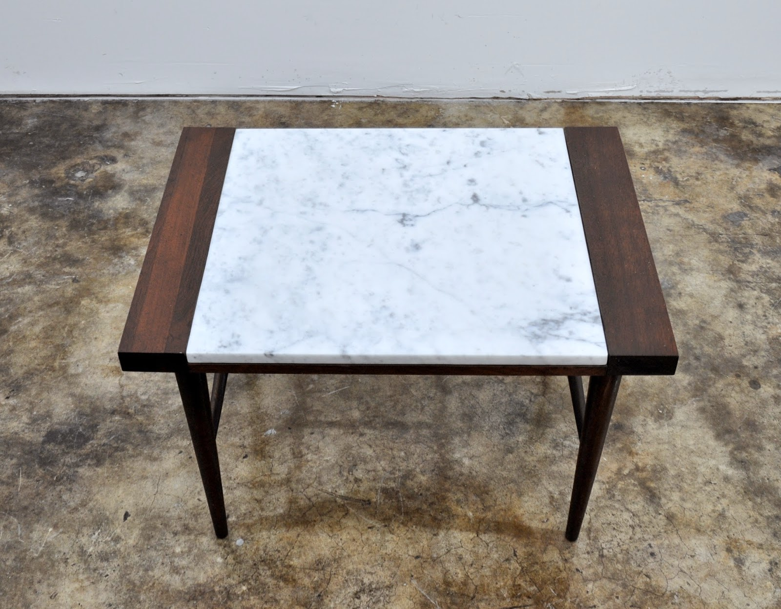 Danish Modern End Table Select Modern Danish Modern Marble Top Side Or End Table