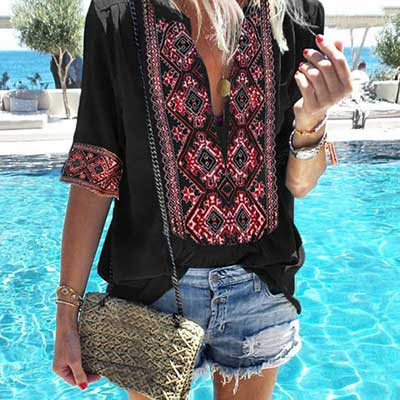 Vintage Style Bohemian Shirt