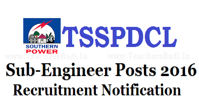 TSSPDCL Recruitment 2016 Apply Online 153 Sub Engineer(Electrical) Telangana Latest Jobs /2016/06/tsspdcl-recruitment-2016-apply-online-153-sub-engineer-posts.html