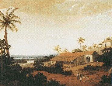 Engenho com Capela ~ Frans Post - Holandês - Barroco Brasil Colonial