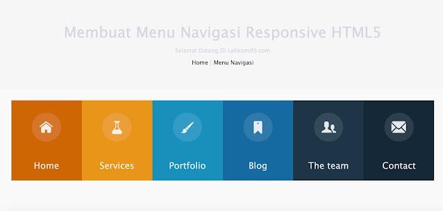 Membuat Menu Navigasi Responsive HTML5