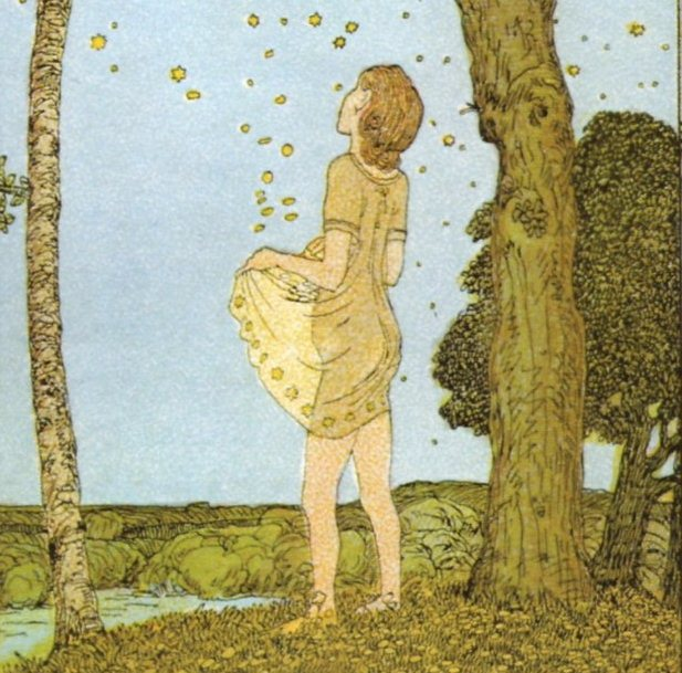 """""""The star-money"""" a fairy tale by Grimm Brothers"""