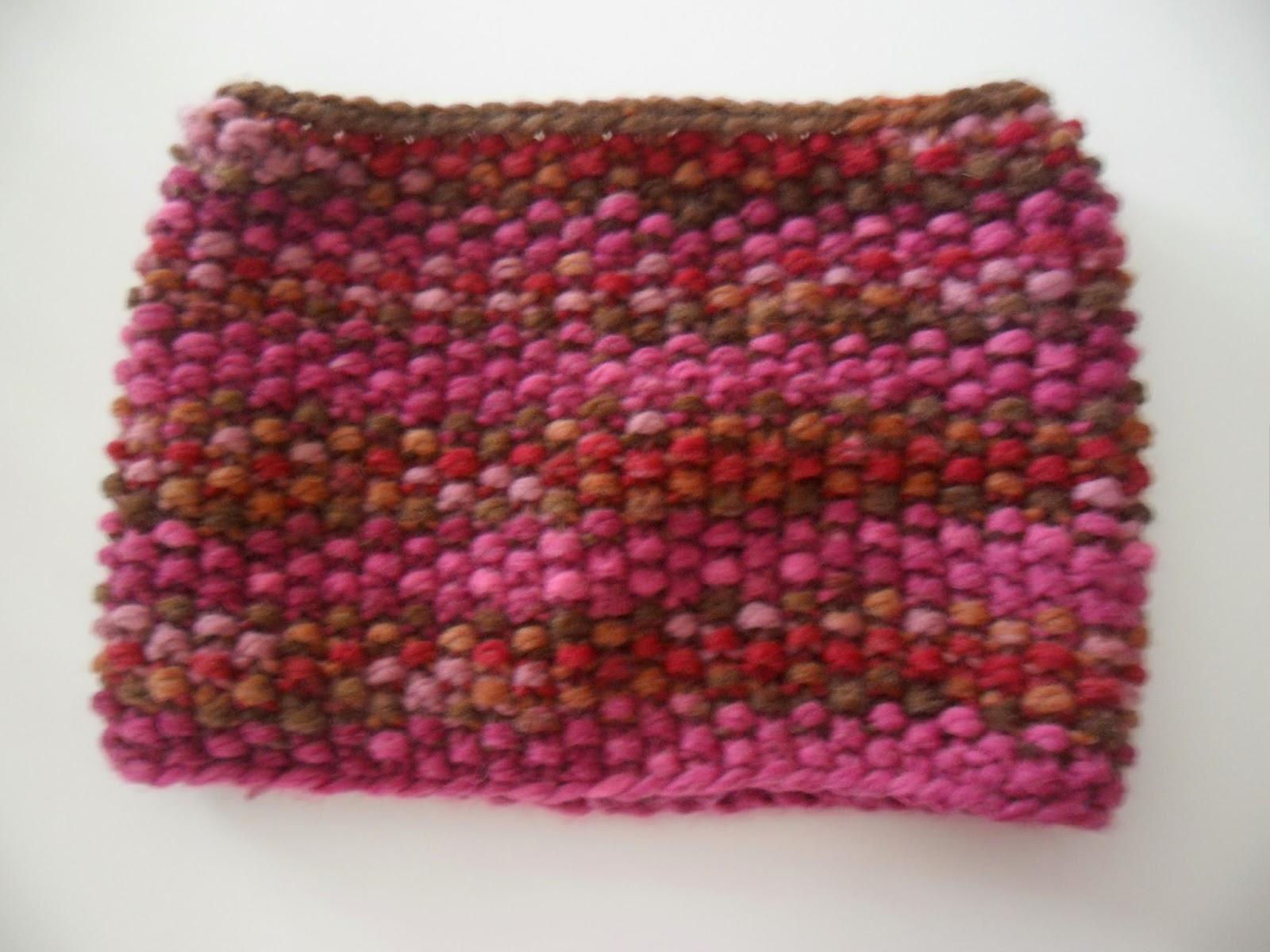 tricoter un snood au point de riz avec aiguilles circulaires