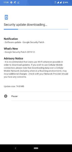 Nokia 4.2 receiving December 2019 Android Security patch