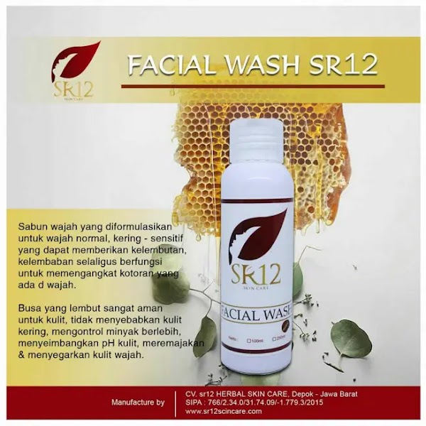 Facial Wash Madu SR12 Sabun Cair Madu Propolis Herbal Skincare