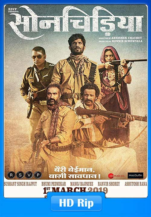 Sonchiriya 2019 Hindi WEB-DL 1080p x264   480p 300MB   100MB HEVC Poster