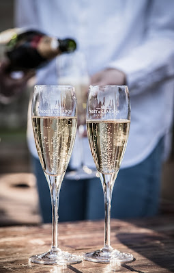 Copas con champagne