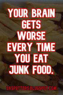 Quote about the danger of junk food on mental health for students