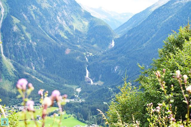 Cataratas Krimml desde la carretera, Austria