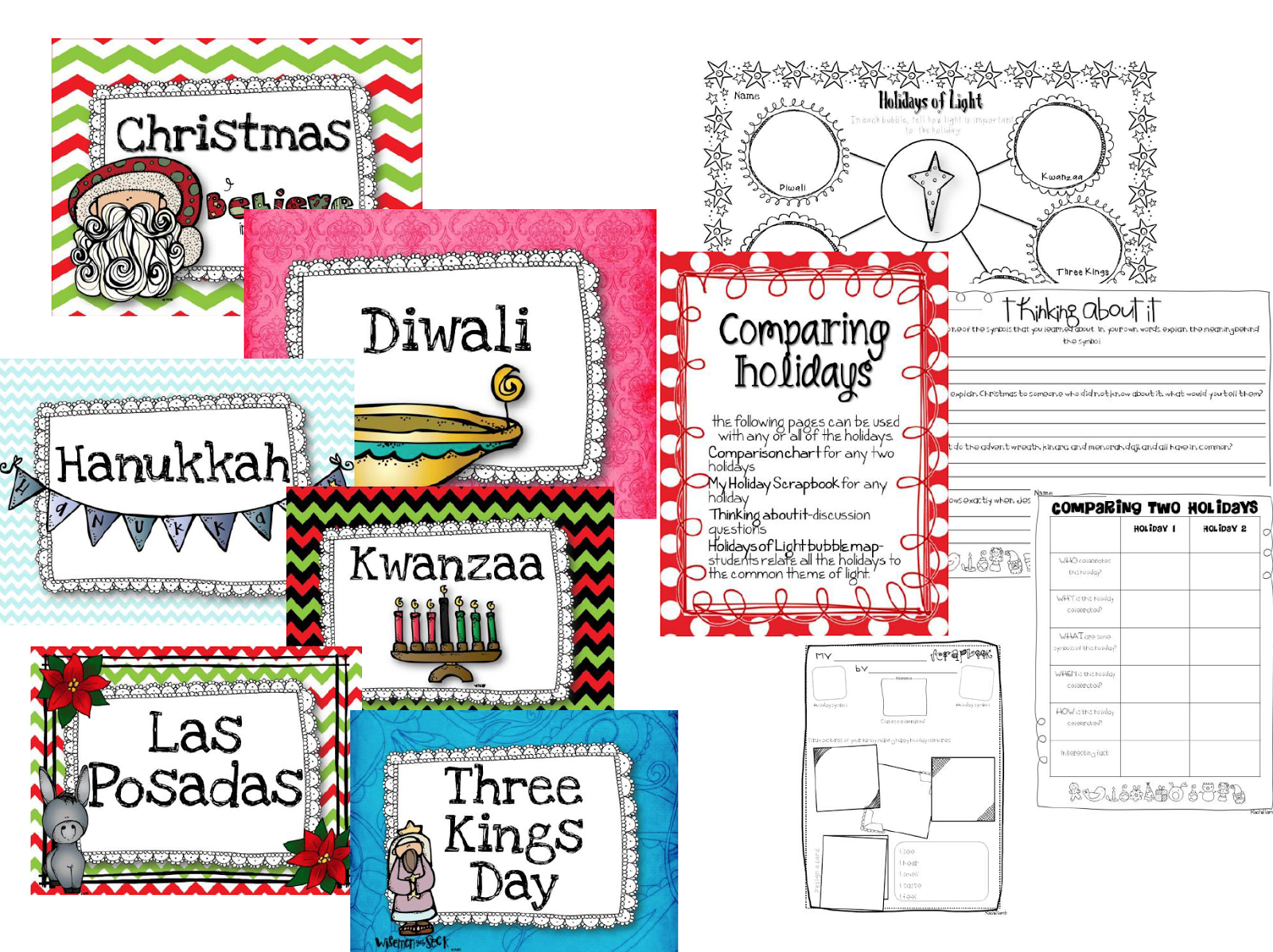 Workbooks las posadas worksheets : Blog Hoppin': In a Holiday Daze?!