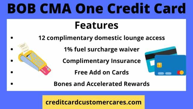 BOB CMA ONE Credit Card